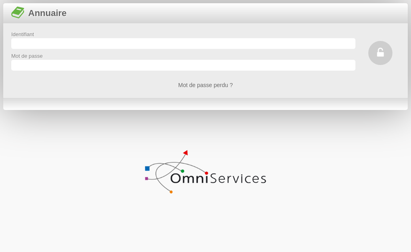Capture d'écran du site de Omniservices