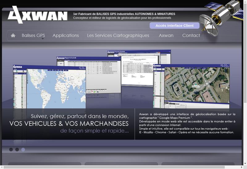 Capture d'écran du site de Sud Partner