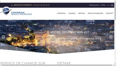 Site internet de Universal Money Exchange