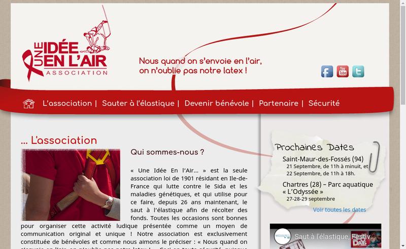 Capture d'écran du site de Une Idee en l'Air