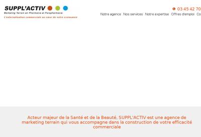 Capture d'écran du site de Suppl Activ