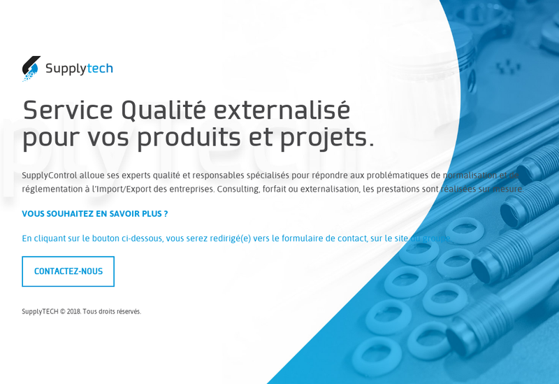 Capture d'écran du site de Supplytech