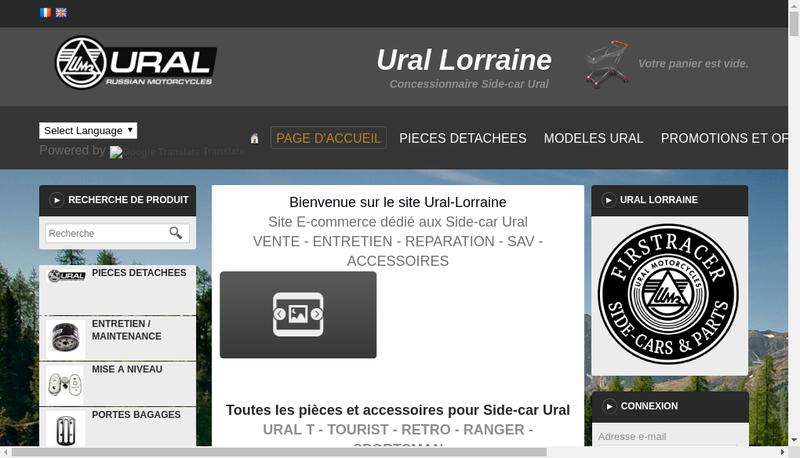 Capture d'écran du site de Firstracer