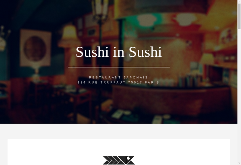 Capture d'écran du site de Sushi In Sushi