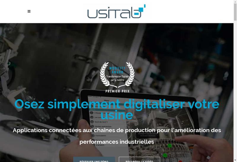 Capture d'écran du site de Usitab