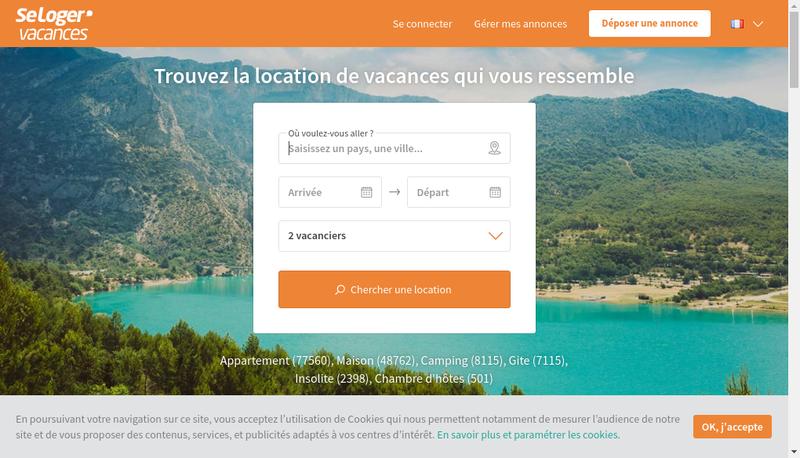 Capture d'écran du site de Seloger.com