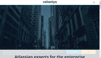 Capture d'écran du site de Valiantys