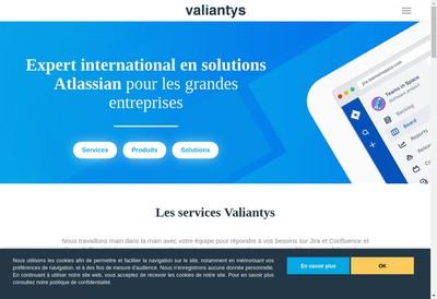 Site internet de Valiantys