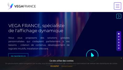 Capture d'écran du site de Vega France