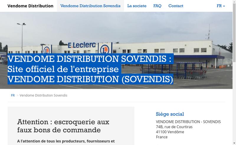 Capture d'écran du site de Centre Leclerc
