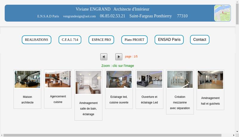 Capture d'écran du site de Ve Design