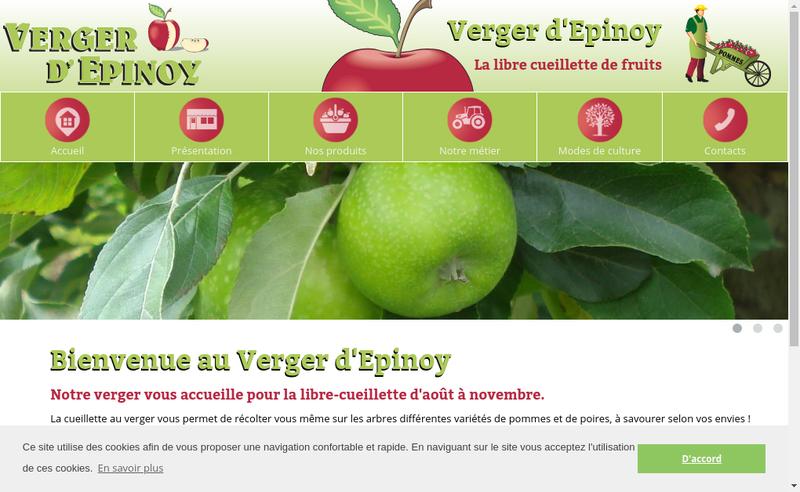 Capture d'écran du site de EARL Deusy Pere et Fils