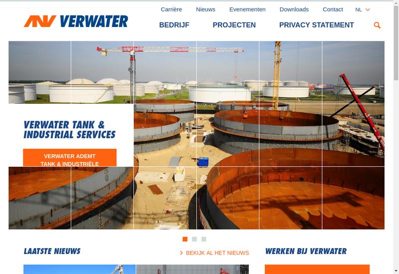 Capture d'écran du site de Verwater France