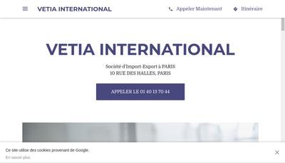 Site internet de Vetia International