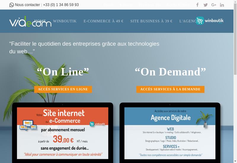 Capture d'écran du site de Viadecom