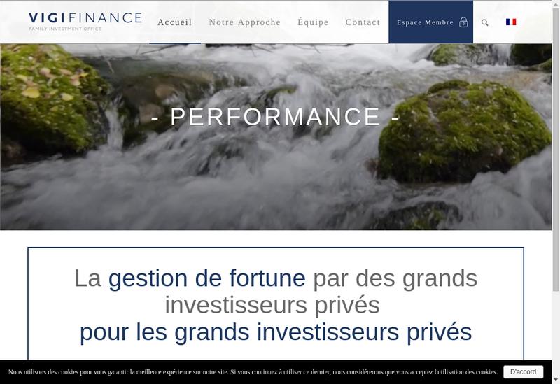Capture d'écran du site de Vigifinance