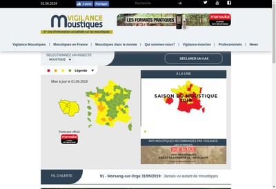 Site internet de Vigilance Moustiques