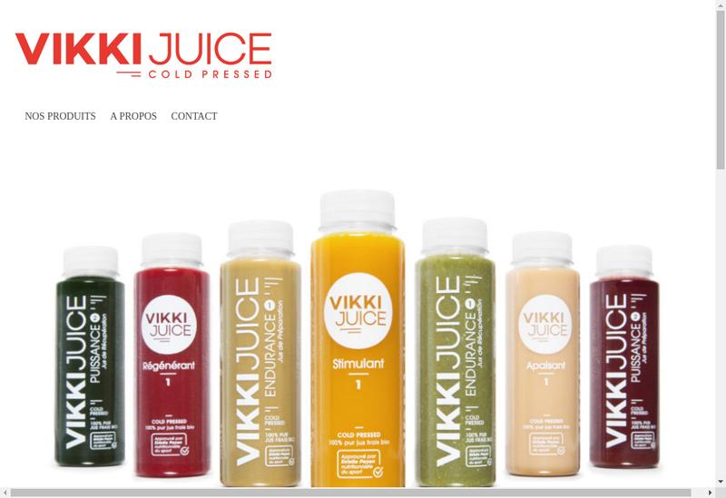 Capture d'écran du site de Vikki