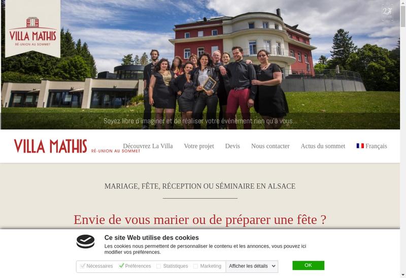 Capture d'écran du site de SARL Villa Mathis