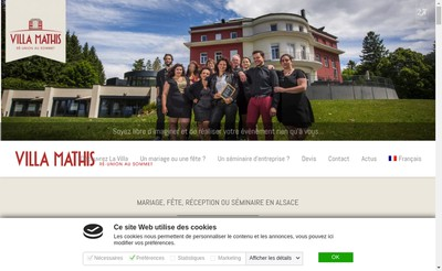 Site internet de SARL Villa Mathis