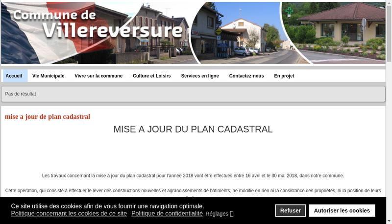 Capture d'écran du site de Coop Agricole Fromagerie Villereversur