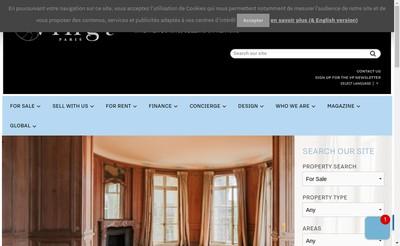 Site internet de Vingt Paris