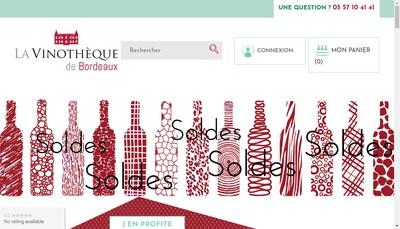 Site internet de La Vinotheque de Bordeaux