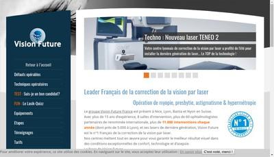 Site internet de Vision Future Lyon