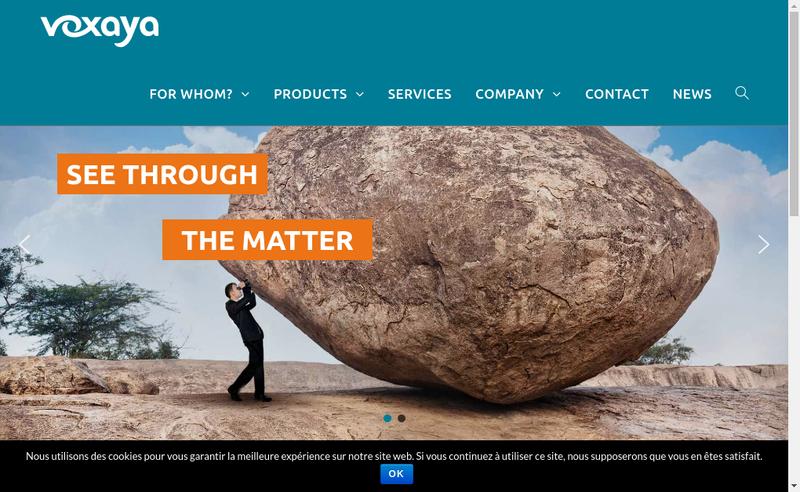 Capture d'écran du site de Voxaya