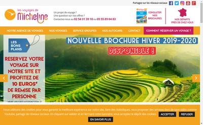 Site internet de Les Voyages de Micheline