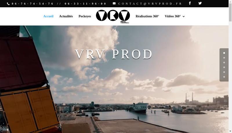 Capture d'écran du site de Vrv Prod