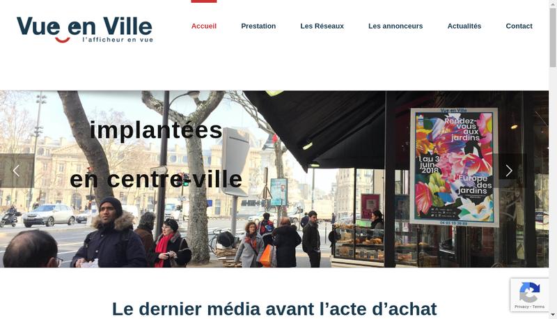 Site internet de Vue en Ville