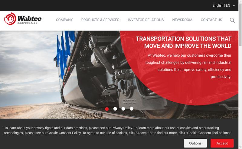 Capture d'écran du site de Faiveley Transport Tours