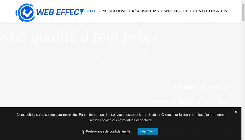 Capture d'écran du site de Web Effect
