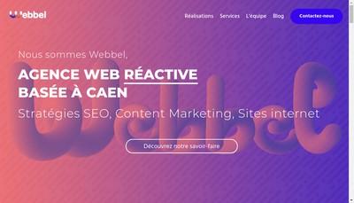 Site internet de Webbel