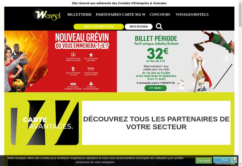 Capture d'écran du site de Wengel