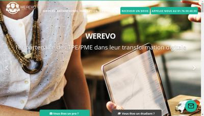 Capture d'écran du site de Werevo