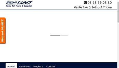 Capture d'écran du site de William Sainct