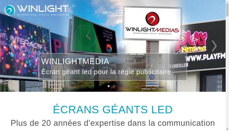 Capture d'écran du site de Winlight International
