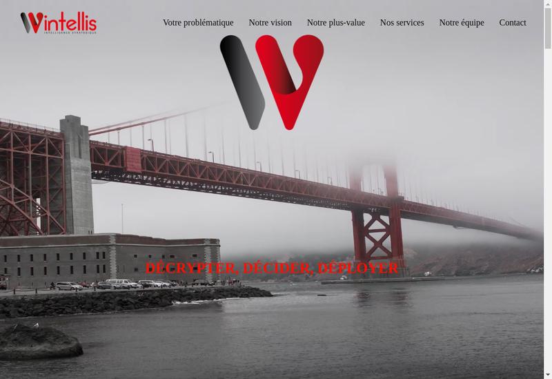 Capture d'écran du site de Wintellis