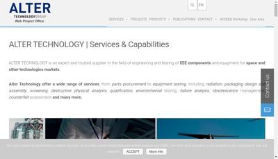Site internet de Alter Technology Group France