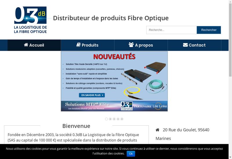 Capture d'écran du site de 03 Db Logistique Fibre Optique