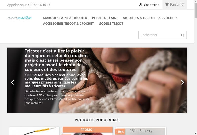 Capture d'écran du site de 1000 et 1 Mailles