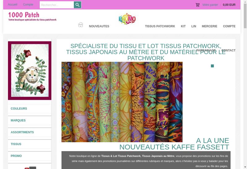 Capture d'écran du site de Crea-Loisirs et 1000Patch