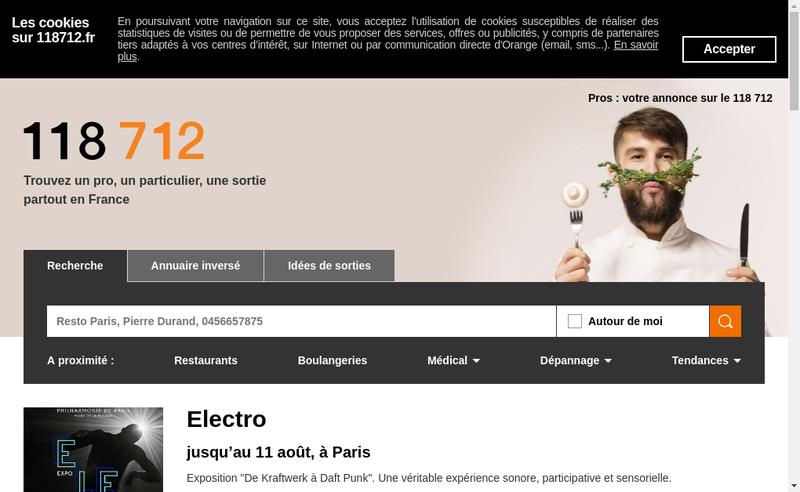 Capture d'écran du site de Orange Digital Pro