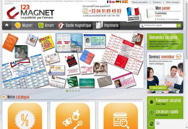 Capture d'écran du site de Md Papeterie