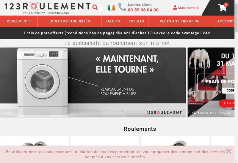Capture d'écran du site de 123 Roulement