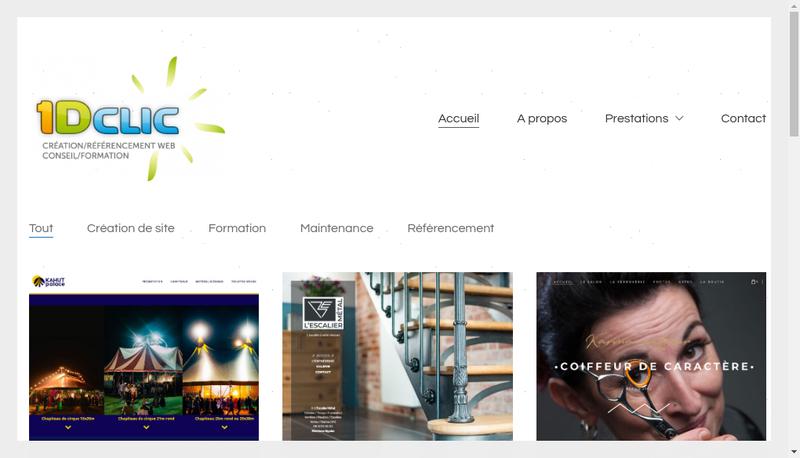 Capture d'écran du site de 1Dclic
