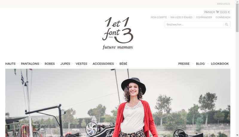Capture d'écran du site de 1 et 1 Font 3