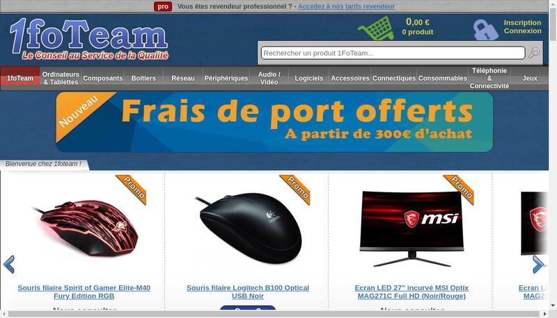 Capture d'écran du site de 1Foteam